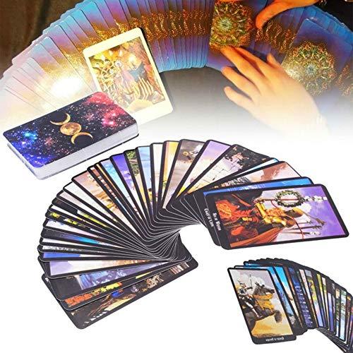 zhuangyulin6 Juego de Cartas de Tarot, 78 Cartas Rider-Waite Smith Cartas de baraja de Tarot de Brujas inglesas Juguetes de Juego de póker de Mesa, Tarot de Rider Waite Tarjetas de Juego de Futuro