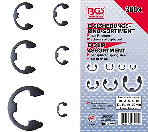 BGS 8039 | Assortiment de circlips | 1,5 - 22 mm | 300 pièces