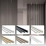HEXIM Láminas de 1,35 m de madera MDF – Pared de láminas de madera de gran diseño – (16 unidades – roble sonoma) revestimiento de sistema de techo DIY