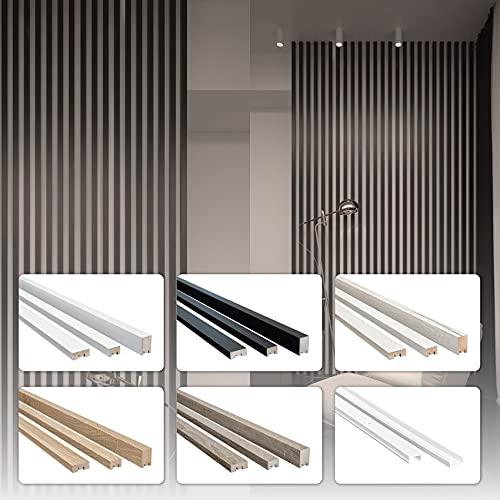 HEXIM 2,7m Lamellen MDF Holz - Lamellenwand Raumteiler Top Design Holzlamellen Wandverkleidung - (1 Stück - Eiche Sanremo) Wandlamellen Wände verkleiden