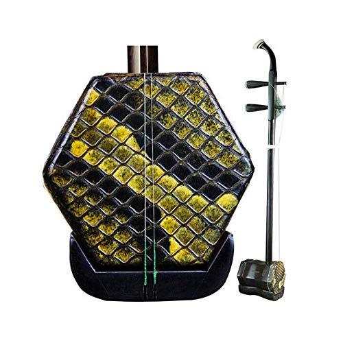 Erhu Musikinstrumente, erwachsene Kinder Anfänger zu üben Instrumente, ethnische Instrumente, Suzhou professionelles handgemachte Ebenholz Erhu Instrumente, (Größe: 83cm) HUERDAIIT (Size : 83cm)