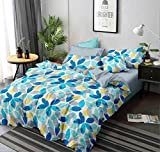 COZY FURNISH Super Soft Microfiber Single Dohar 60'X 90' - Reversible AC Blanket/Dohar for Home Single Bed - Dohar Cum Duvet Cover (Blueleaf)