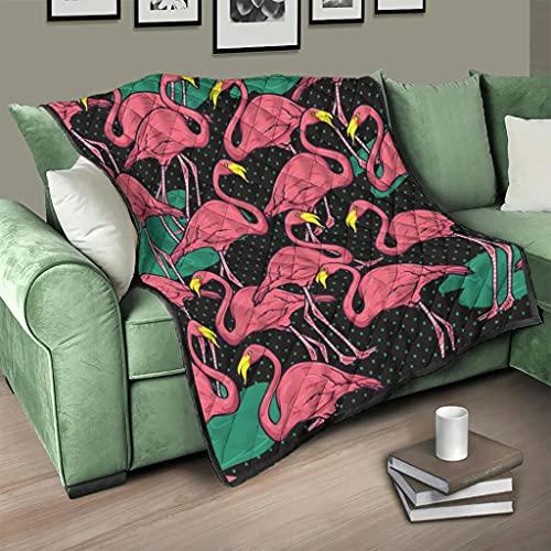 Colcha de flamenco, diseño de animales, 3D, digital, 230 x 280 cm, color blanco