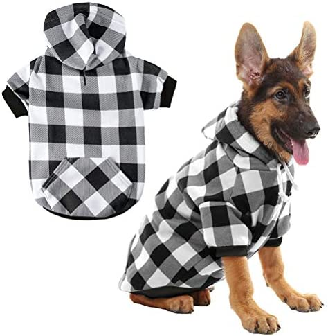 Plaid Dog Hoodie Pet Clothes Sweaters with Hat product image