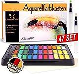 KrevoArt Aquarellfarben Wasserfarben Set