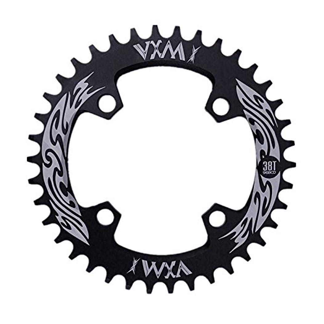 敵対的不安定Propenary - Bicycle Crank & Chainwheel 96BCD 38T Ultralight Alloy Bike Bicycle Narrow Wide Chainring Round Chainwheel Cycle Crankset [ Black ]