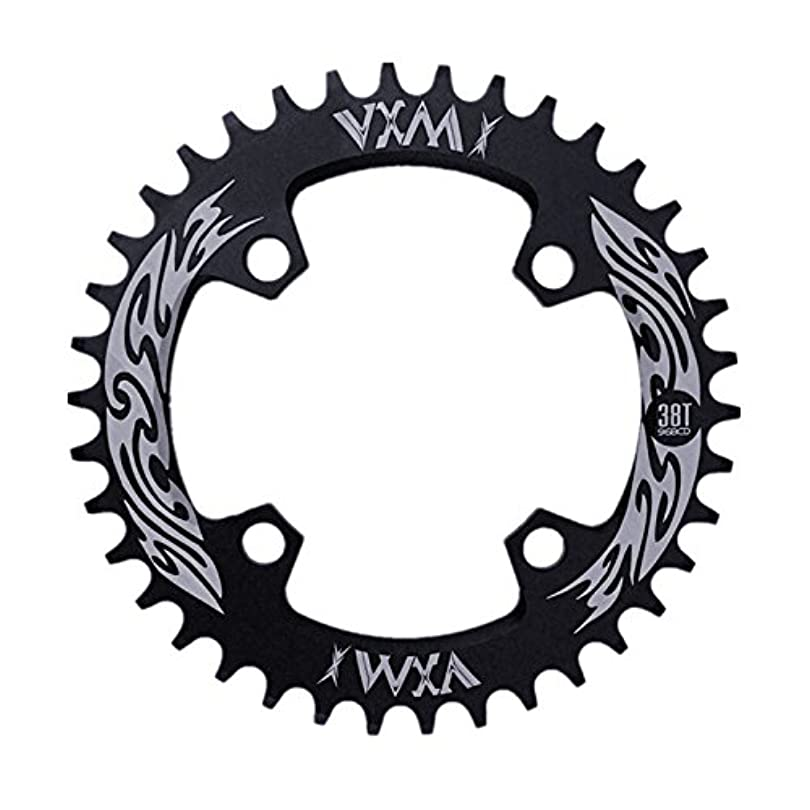 Propenary - Bicycle Crank & Chainwheel 96BCD 38T Ultralight Alloy Bike Bicycle Narrow Wide Chainring Round Chainwheel Cycle Crankset [ Black ]