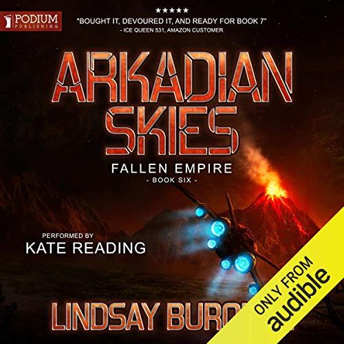 Arkadian Skies audiobook cover art
