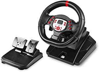 180 Degree Motor Vibration Driving Gaming Racing Wheel,with Responsive Gear And Pedals Compatible for PS3/ PS4 /PC/Androi...