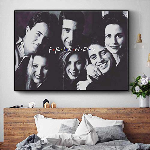 Mengyun Store Friends TV Series Film Art Canvas Painting Art Print Modern Wall Picture Home Decor Dormitorio Mural Poster Pintura Sin Marco R-460 (50X70Cm)