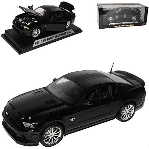 Shelby Ford Mustang GT-500 Super Snake Schwarz mit Schwarzen Streifen V 2. Generation 2010 2009-2014 1/18 Collectibles Modell Auto