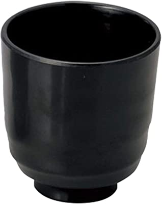 極(きわみ) 湯呑み メラミン 黒 直径7.7cm 367-028-02C