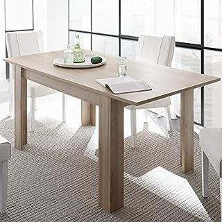 M-012 Table à Manger Extensible rectangulaire chêne Clair Alano