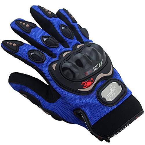 Gusspower Guantes de motos motocicleta para carreras todo terreno, guantes de moto para pantallas táctiles resistentes a caídas (Azul)