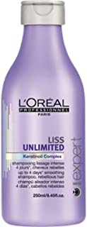 L'oreal Liss Unlimited Keratinoil Complex Smoothing Shampoo 8.45 oz