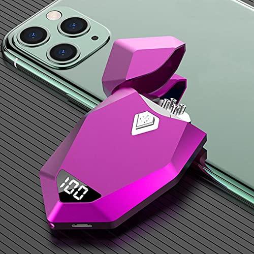 Encendedor eléctrico USB a prueba de viento Encendedores de cigarrillos sin llama...