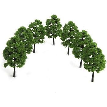 Modell Bäume Zug Eisenbahnen Landschaft Layout 12cm 10 stk