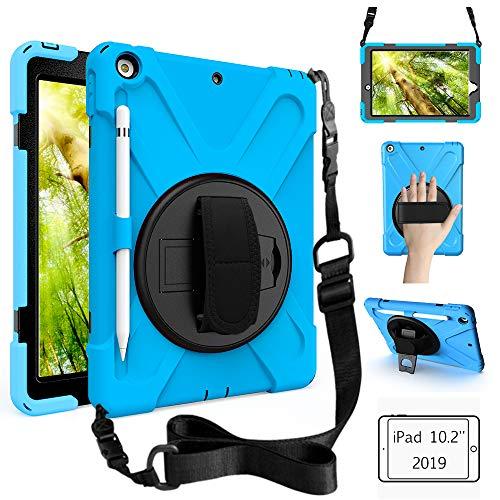 Schutzhülle für Samsung Galaxy Tab S2 8.0, stoßfest, strapazierfähig, mit Handschlaufe, Schultergurt, Tragetasche für Samsung Galaxy Tab S2 SM-T710/SM-T713/SM-T715, 20,3 cm (8 Zoll) Tablet himmelblau
