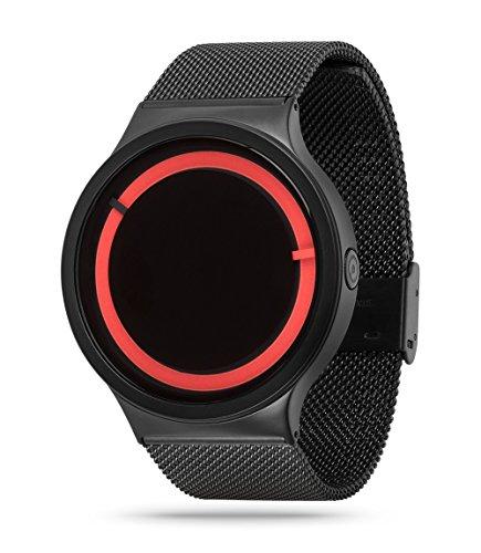Ziiiro Unisexuhr Eclipse Metallic Black Red Z0012WBR