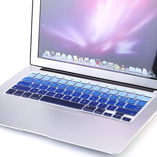Queen.Y Rainbow Silicone Keyboard Case Cover Skin Protector for iMac MacBook Pro 13 15 US Version