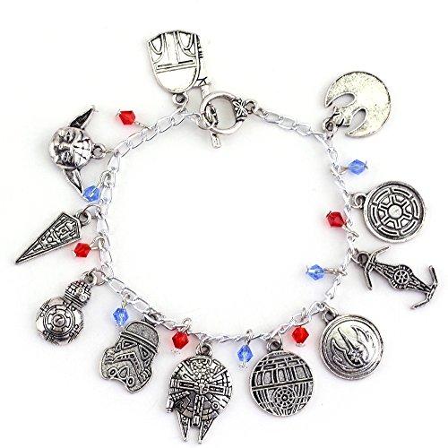 Star Wars Charm Bracelet - Movie Inspired Silver Tone Bracelet