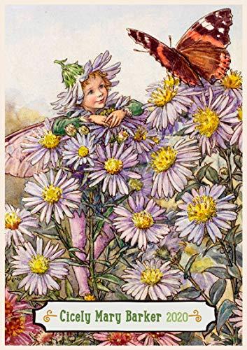Calendario de pared 2020 [12 páginas 8 x 11 pulgadas] Impresionante hada flor niños por Cicely Barker Vintage Book Illustration