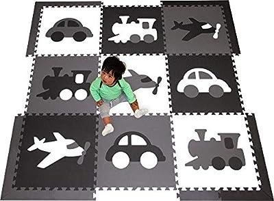 "SoftTiles Transportation Theme Premium Interlocking Foam Large Children's Playmat 78"" x 78"""