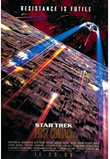 Star Trek Vintage First Contact 1996 Movie Original Glossy Poster (Large 40