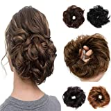 100% Remy Human Hair Up Messy Hair Bun Extension Scrunchie Scrunchy Extensions Hairpiece