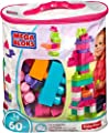 Mega Bloks Juego de construcción de 60 piezas, bolsa ecológica rosa, juguetes bebés 1 año (Mattel DCH54) de Mattel