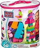 Mega Bloks Juego de construcción de 60 piezas, bolsa ecológica rosa, juguetes bebés 1 año...