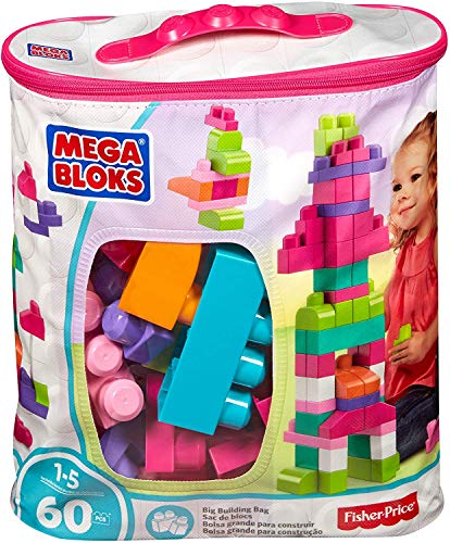 MEGA BLOKS Trendy Building Blocks Bag (60 Pieces)