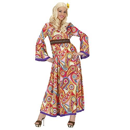 Widmann 76215 - Kostüm Hippie Woman, Kleid, Flower Power, Verkleidung, Karneval, Mottoparty