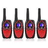 Retevis RT628 Walkie Talkie Niños PMR446 8 Canales Pantalla LCD VOX Volumen Ajustable Walkie Talkie Niñas Juguete Regalo para Niños (Rojo, 2 par)