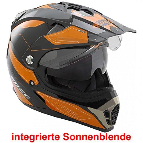 Büse Cross Helm ROCC 771 schwarz orange Crosshelm, Größen:S - 55/56