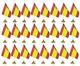 24 Pieces Spain Desk Flags wit...