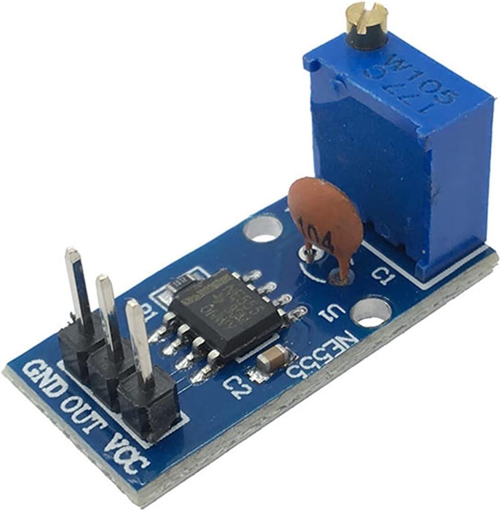 JCMYSH Módulo de relé DC 5V 12V NE555 Módulo de generador de pulsos de frecuencia de Resistencia Ajustable Salida de un Solo Canal para Arduino Smart Car Kit de componentes electrónicos