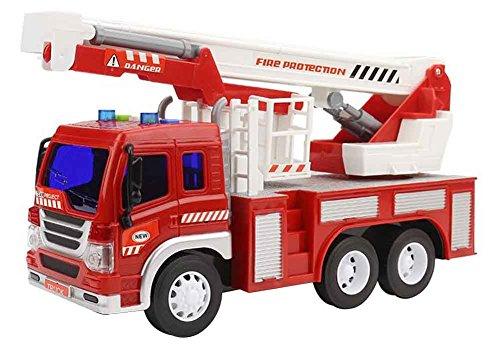 Black Temptation Grandes vehículos de construcción Juguetes con música, Camión de Bomberos