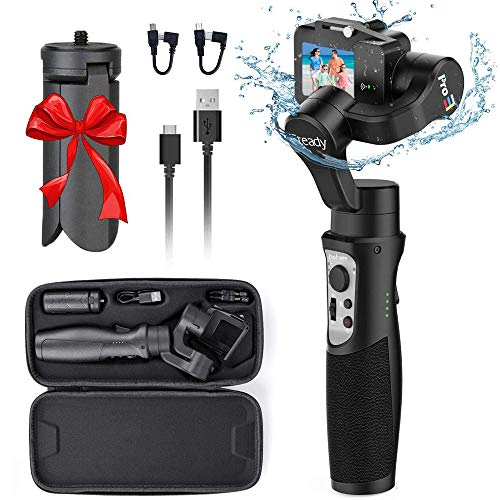3-Axis Handheld Gimbal Stabilizer for GoPro 8 Action Camera, Splash Proof Wireless Control Gimbal Tripod Stick for Gopro 8/7/6/5/4, Osmo Action,SJ...