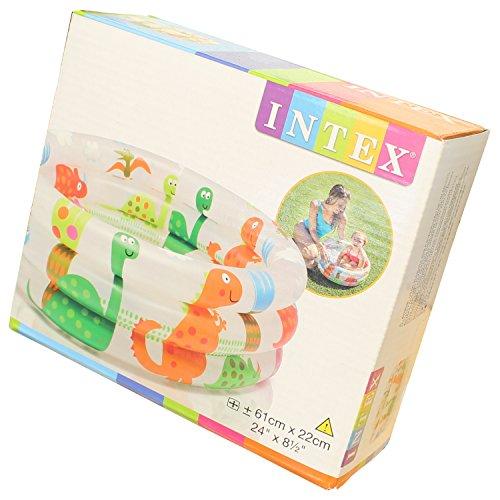 Smart Planet Baby Pool/Mini Baby Planschbecken 61 cm Kleiner Pool zum Bade für Babys und Kleinkinder mit lustigem Dinosaurier Motiv