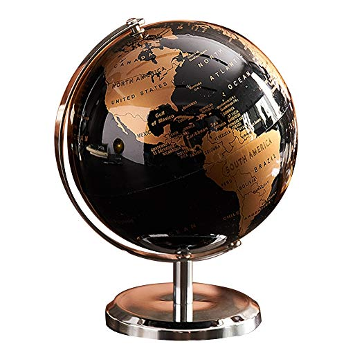 KAPAYONO World Globe Map Globe for Home Table Desk Ornaments Gift Office Home Decoration Accessories(Gold)