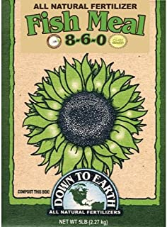 Down To Earth All Natural Fertilizers 723700 Fertilizer, 5 lb, Brown/A