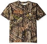 Carhartt Workwear Camo Short-Sleeve Tshirt Camiseta Funcional de Trabajo, Mossy Oak Break-UP Country, L de los Hombres