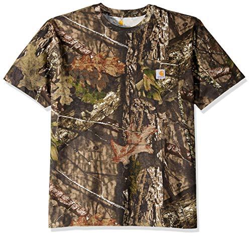 Carhartt Herren Camo Short Sleeve Arbeits-T-Shirt, 340-moossy Eiche Breakup Country, Groß