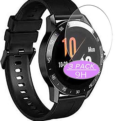 VacFun 3 Piezas Vidrio Templado Protector de Pantalla, compatible con Blackview BV-X1 smartwatch Smart Watch, 9H Cristal Screen Protector Protectora Reloj Inteligente