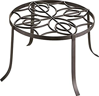 "Rocky Mountain Goods Planter Stand 12"" - Extra Strength Wrought Iron - Outdoor / Inside use - Can hold 200 pounds - Rust proof - Pot holder has decorative look and finish"