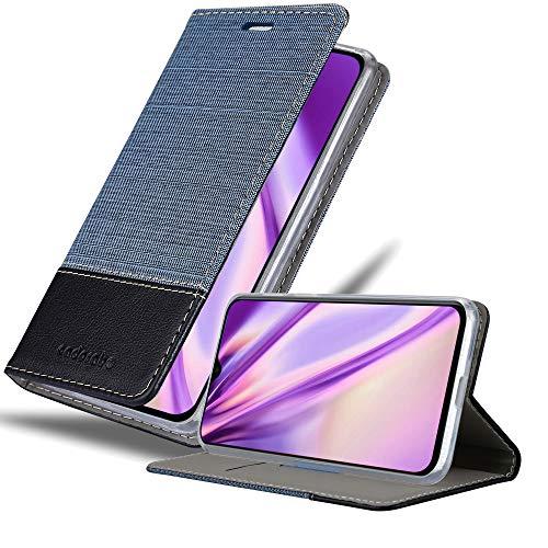 Cadorabo Funda Libro para Xiaomi Mi 9 en Azul Oscuro Negro - Cubierta Proteccíon con Cierre Magnético, Tarjetero y Función de Suporte - Etui Case Cover Carcasa