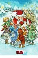 ねこの引出し リシ マーチンのクリスマスポストカードサンタさんにお菓子のプレゼント