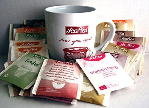Yogi Tee BIO Probier- Sortiment 30 Teebeutel, mind 5 versch. Sorten + 1 Teetasse, Art.29174 Abbildung nicht identisch