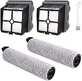 Qeuta - 2 filtros de repuesto para Tineco Floor ONE S3 y Floor 3 con cepillo de aspiración y limpiador de cepillos de repuesto y filtro de repuesto